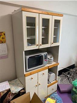 大阪市での食器棚の回収 case2